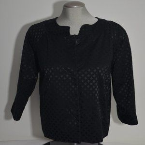Covington Sears Black Blazer 3/4 Sleeve